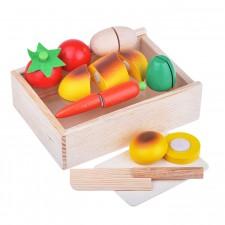 Набор нарезные деревянные овощи