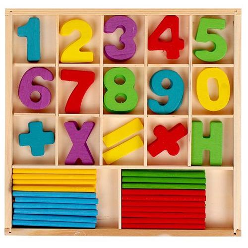 Деревянное пособие Юный математик