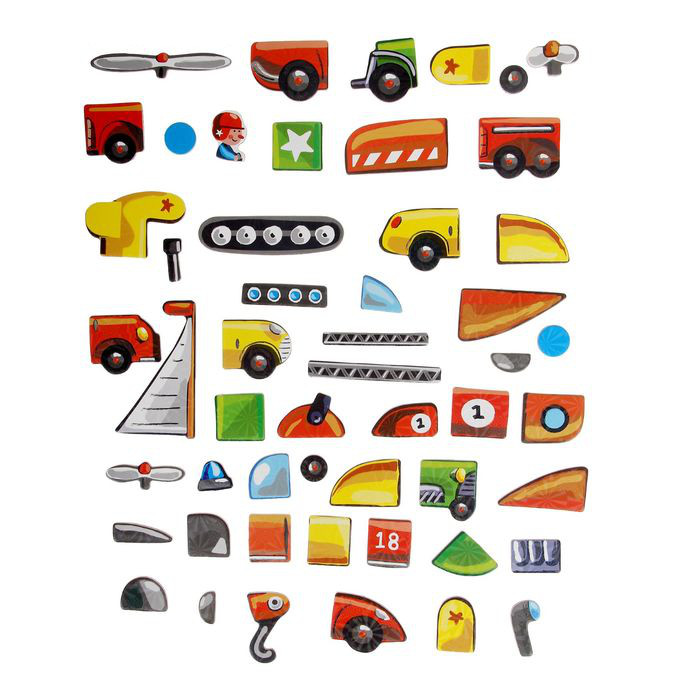 Магнитный конструктор транспорт