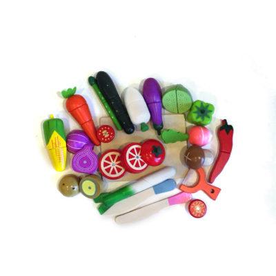 набор разрезнвх овощей