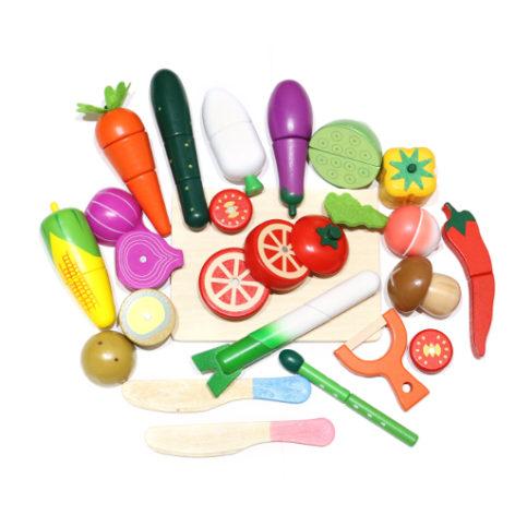 набор разрезнвх овощей на магнитах