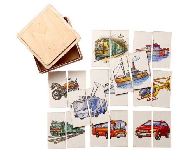 Картинки-половинки Транспорт