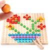 Мозаика с пинцетом и шариками