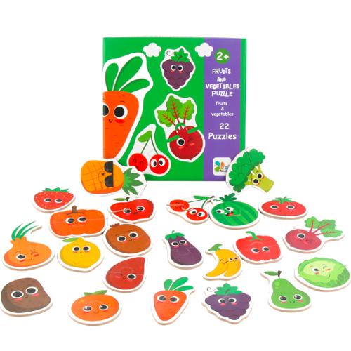 Пазлы-половинки для малышей Фрукты - Овощи