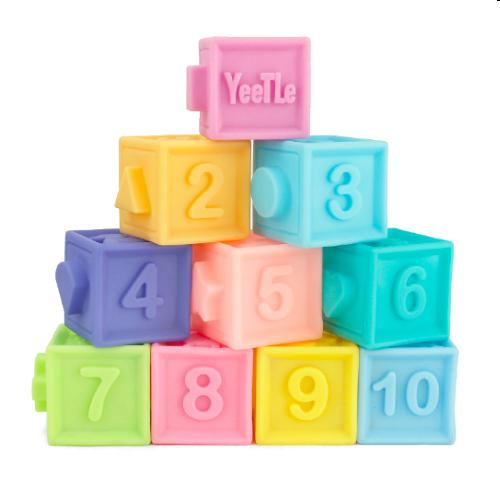 Набор сенсорных кубиков, 10шт