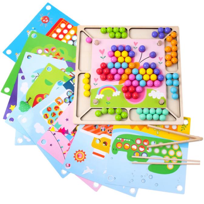 Деревянная мозаика с карточками-шаблонами