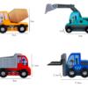 Набор деревянных машинок 8 предметов