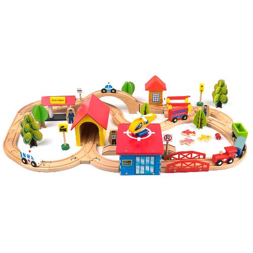 Деревянная железная дорога Kids Fun Railway
