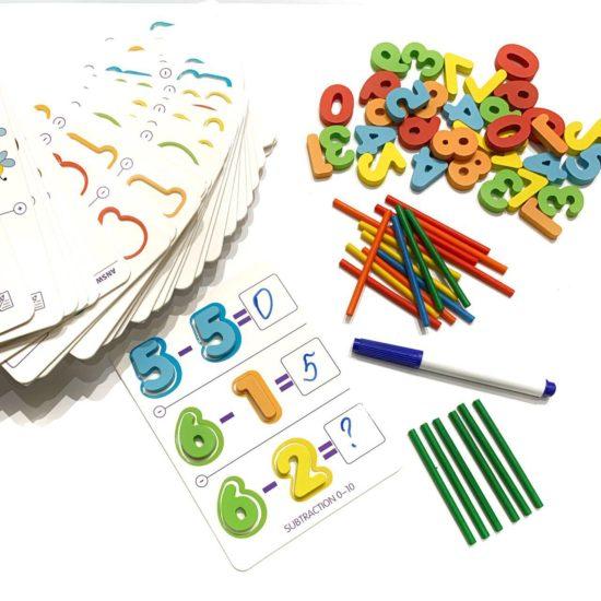 Математический набор с карточками